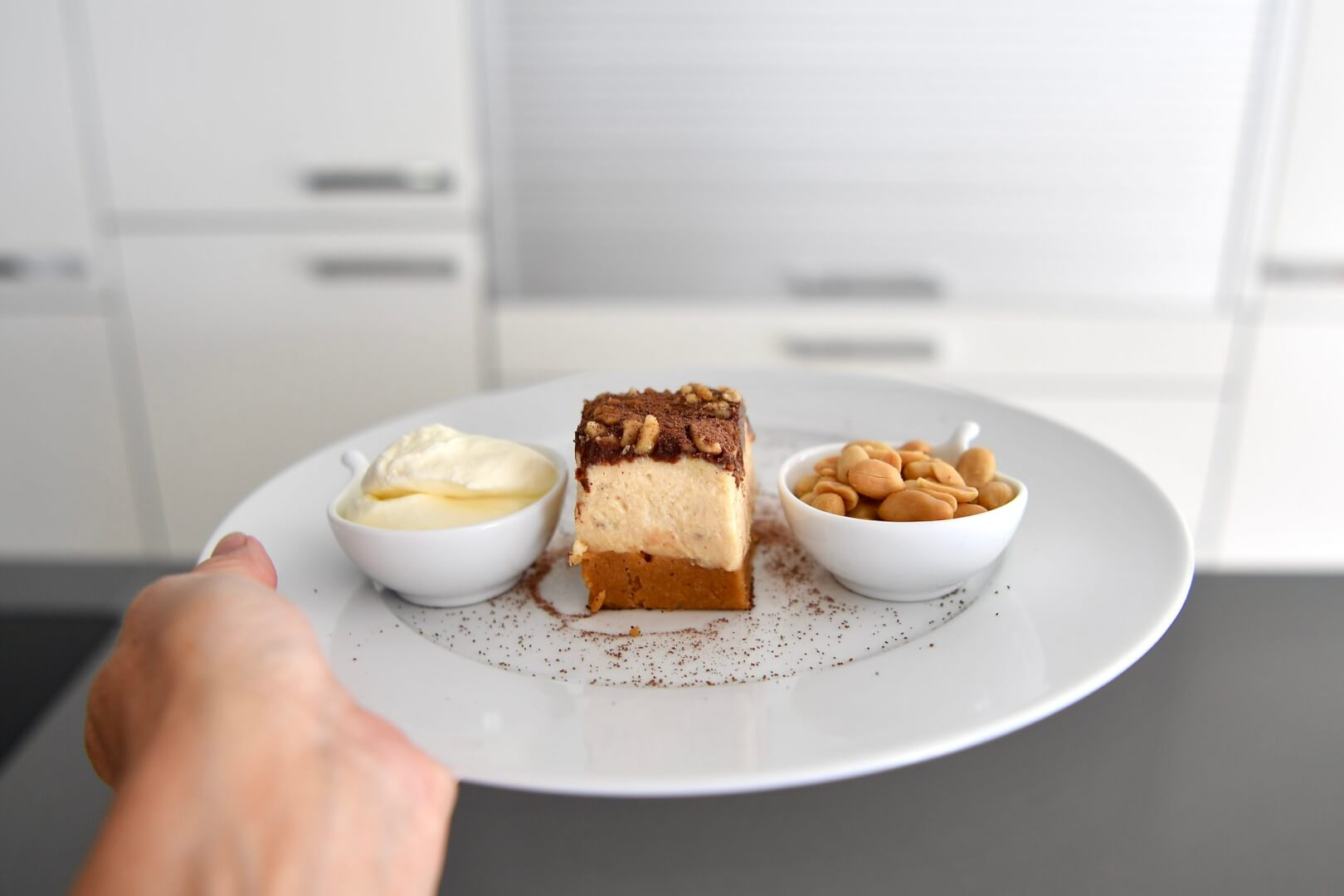 Salty Peanut Butter Cheesecake Slice
